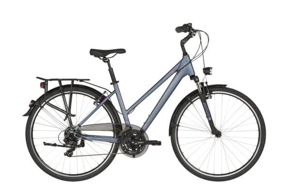 CRISTY 10 Gradski bicikl za cestu i makadam. Aluminijska rama, suspenzija 50mm, 21 brzina, kompletna oprema.