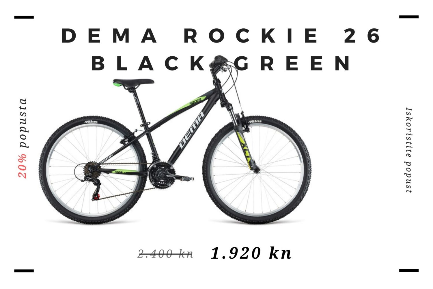 DEMA ROCKIE 26 BLACK-GREEN