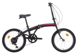 Cinzia 20″ C-FOLD TROLLEY 6B V-Brake Matt black/red